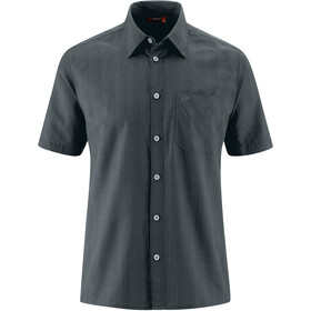 Maier Sports Karo T-Shirt Heren, dark grey check